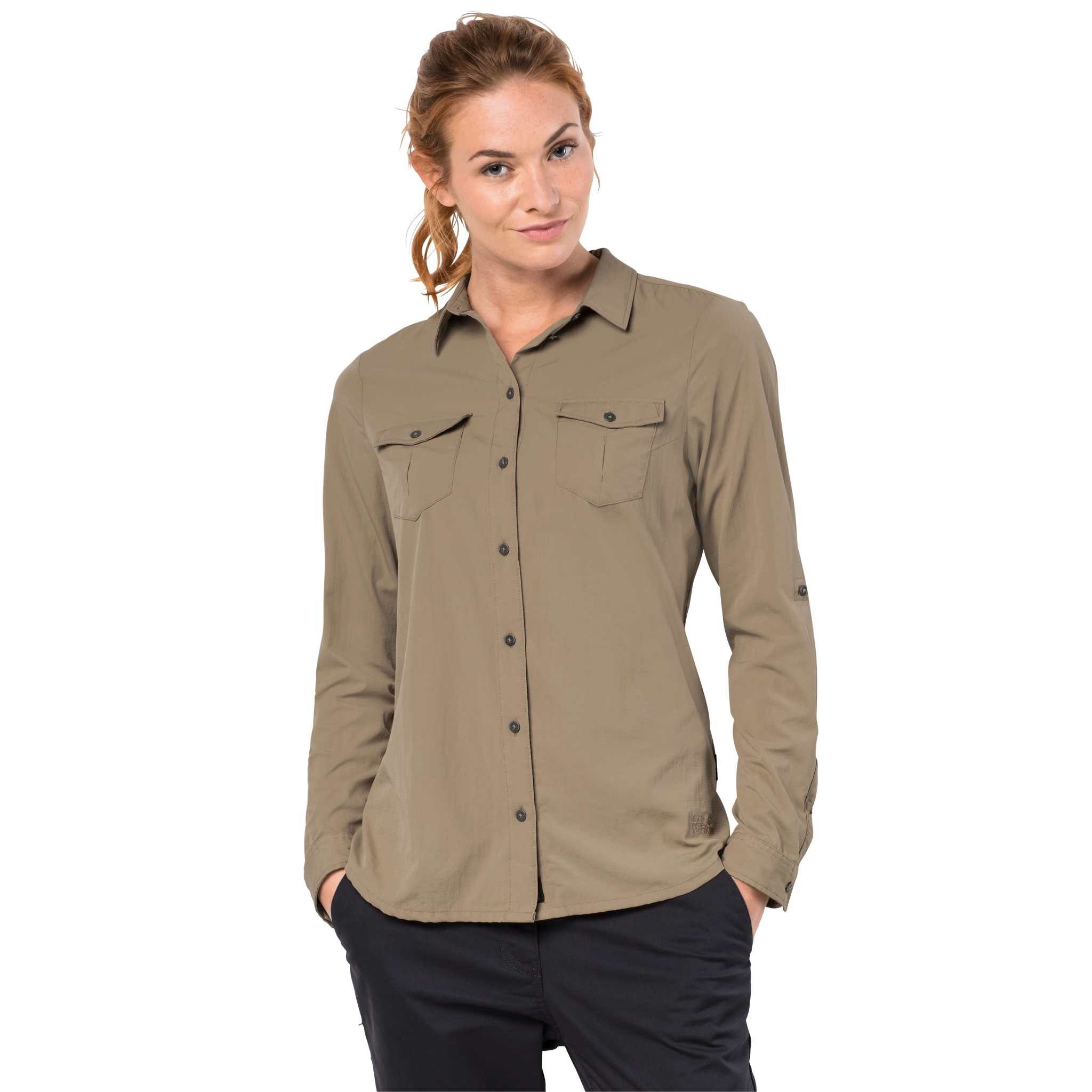 Koszula ATACAMA ROLL UP SHIRT WOMEN sand dune Jack Wolfskin
